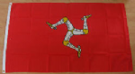 Isle of Man Large Country Flag - 3' x 2'.
